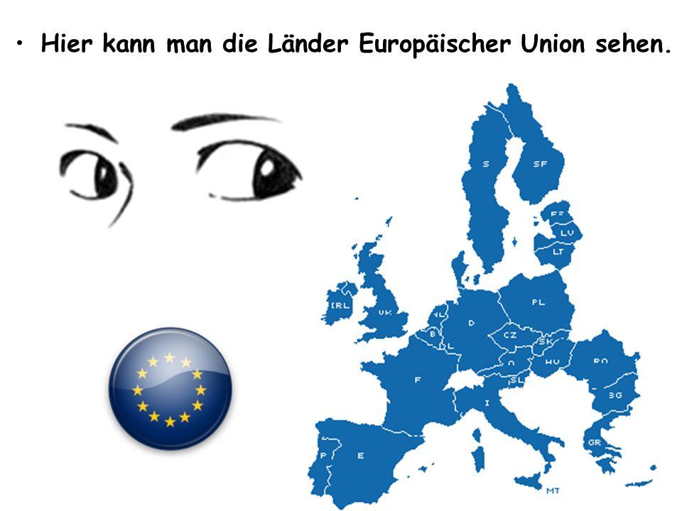 • •Symbole der Europäischen Union sind: Europaflagge, Europahymne, europäisches Kennwort, Tag der EU und Euro.