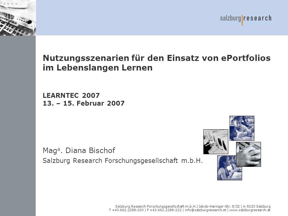 Salzburg Research Forschungsgesellschaft m.b.H.| Jakob-Haringer-Str. 5/III | A-5020 Salzburg T +43.662.2288-200 | F +43.662.2288-222 | info@salzburgre