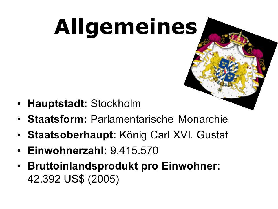 Geografisches •449.964 km³ •Nordeuropa (Skandinavien) •50% Nadelhölzer (Papierherstellung) •Landwirtschaft bevorzugt an der Küste