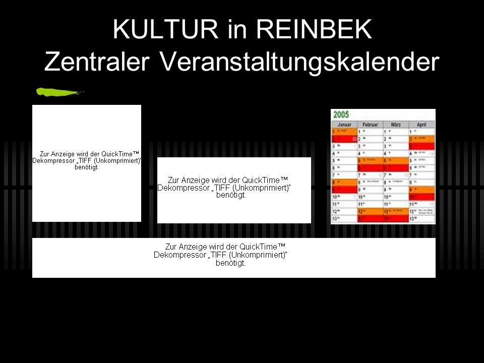 KULTUR in REINBEK Zentraler Veranstaltungskalender