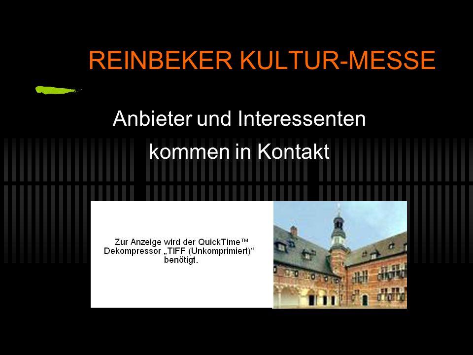 REINBEKER KULTUR-MESSE Anbieter und Interessenten kommen in Kontakt