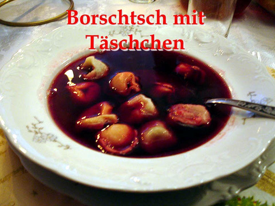 Borschtsch mit Täschchen