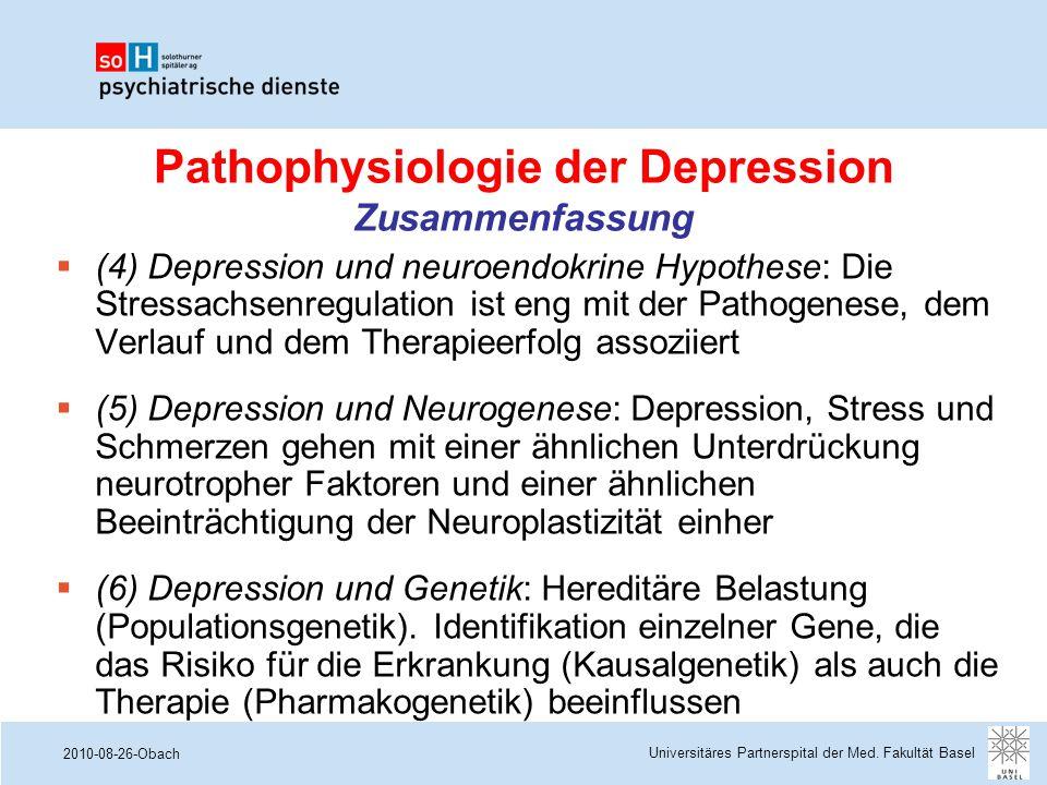 2010-08-26-Obach Pathophysiologie der Depression Zusammenfassung Universitäres Partnerspital der Med. Fakultät Basel  (4) Depression und neuroendokri