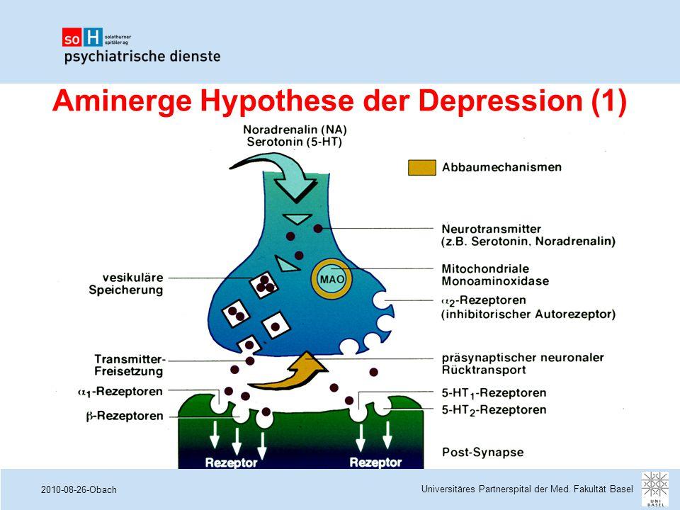 2010-08-26-Obach Aminerge Hypothese der Depression (1) Universitäres Partnerspital der Med. Fakultät Basel