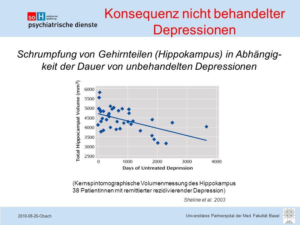 2010-08-26-Obach Sheline et al. 2003 (Kernspintomographische Volumenmessung des Hippokampus 38 Patientinnen mit remittierter rezidivierender Depressio