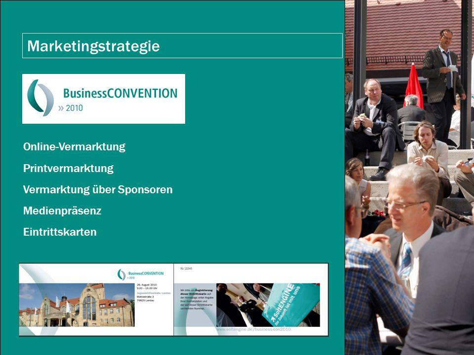 Marketingstrategie Online-Vermarktung Printvermarktung Vermarktung über Sponsoren Medienpräsenz Eintrittskarten