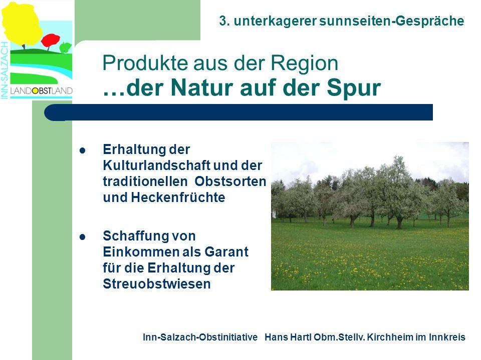 3. unterkagerer sunnseiten-Gespräche Inn-Salzach-Obstinitiative Hans Hartl Obm.Stellv. Kirchheim im Innkreis Produkte aus der Region …der Natur auf de