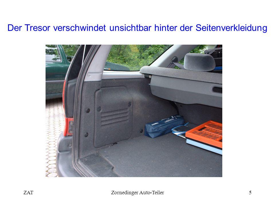 ZATZornedinger Auto-Teiler5 Der Tresor verschwindet unsichtbar hinter der Seitenverkleidung
