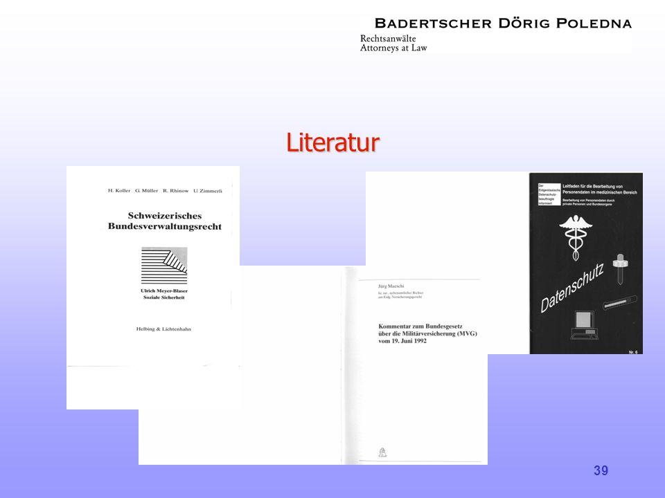 39 Literatur