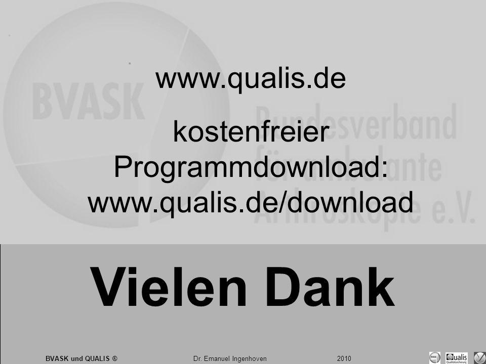 Dr. Emanuel Ingenhoven 2010 BVASK und QUALIS ® Dr.