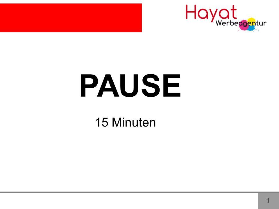 1 PAUSE 15 Minuten