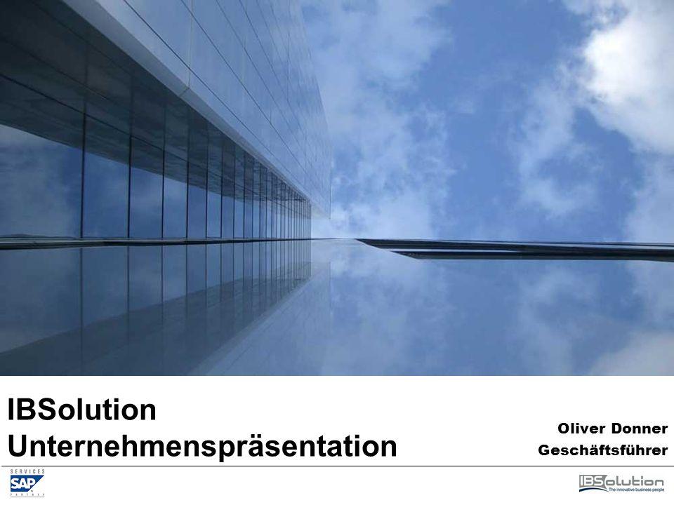 IBSolution Unternehmenspräsentation Oliver Donner Geschäftsführer