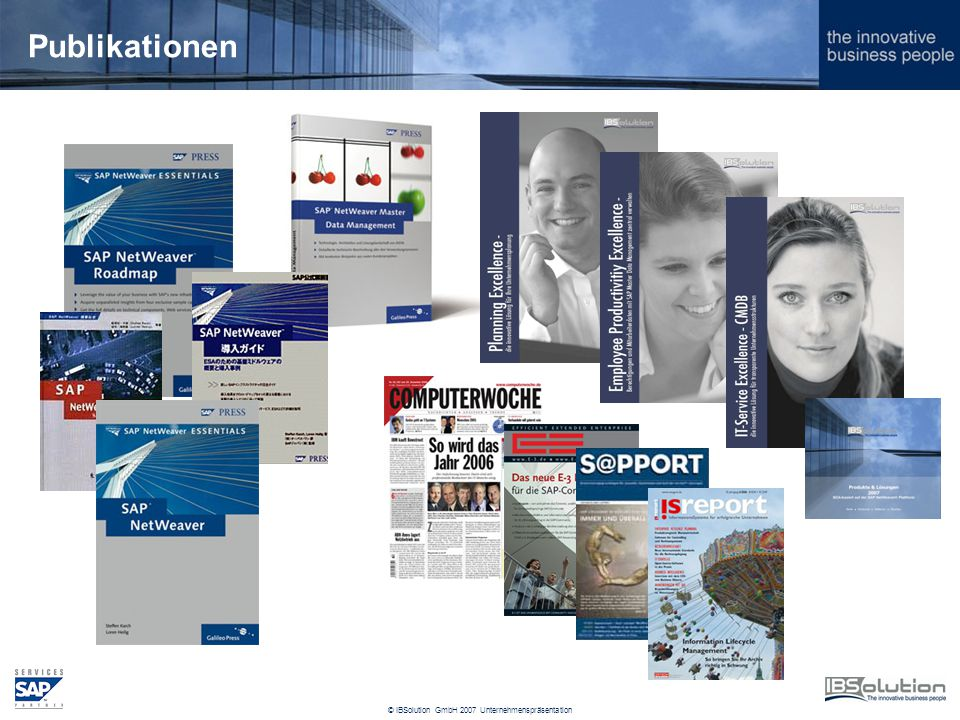 © IBSolution GmbH 2007 Unternehmenspräsentation Publikationen