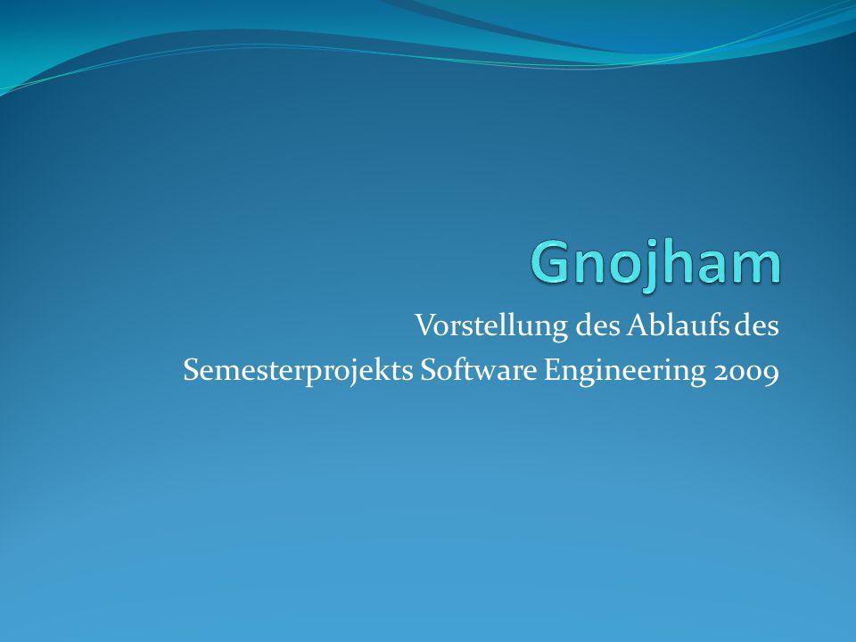 Vorstellung des Ablaufs des Semesterprojekts Software Engineering 2009