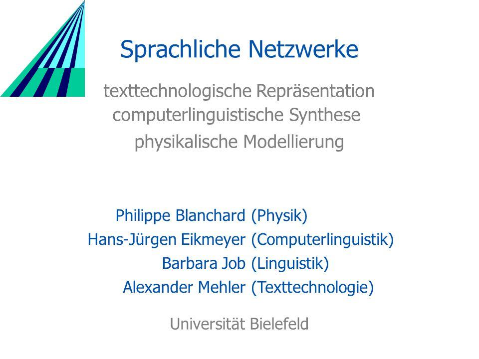 Sprachliche Netzwerke Forschungsgegenstand Physikalische Netzwerke: City Space Syntax