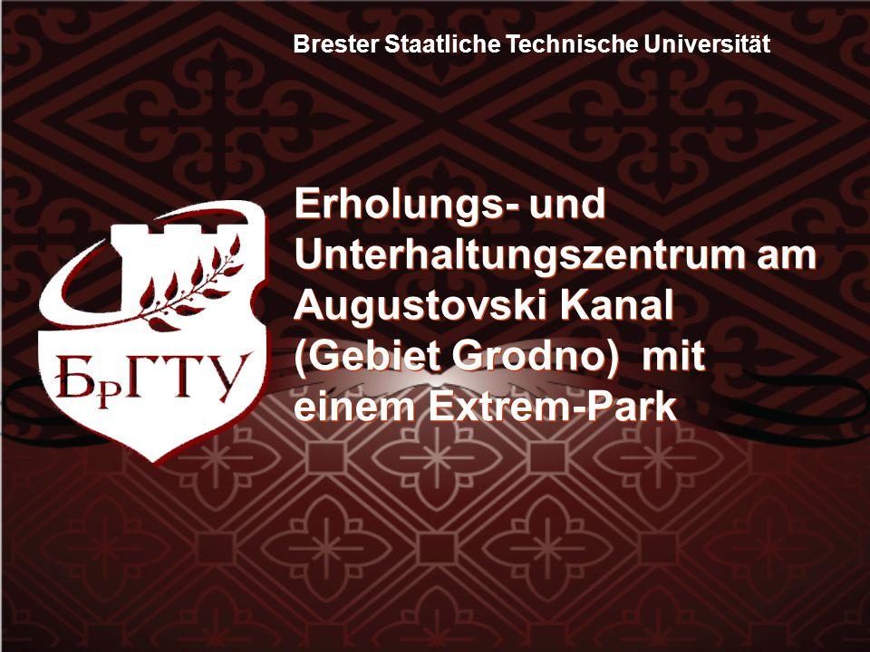Brester Staatliche Technische Universität Erholungs- und Unterhaltungszentrum am Augustovski Kanal (Gebiet Grodno) mit einem Extrem-Park