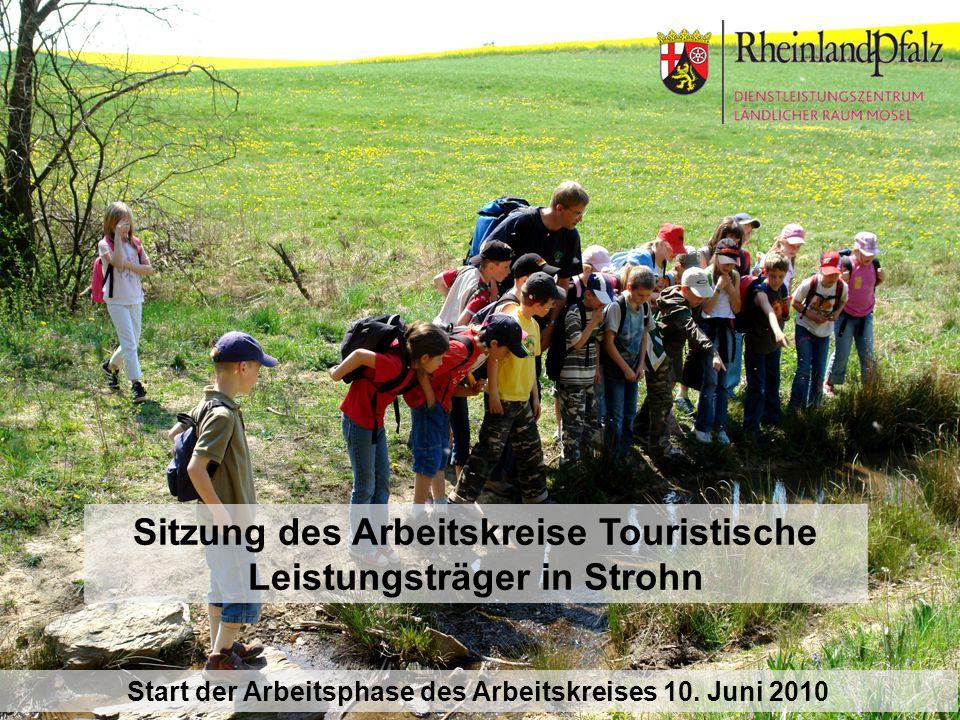 Sitzung des Arbeitskreise Touristische Leistungsträger in Strohn Start der Arbeitsphase des Arbeitskreises 10. Juni 2010