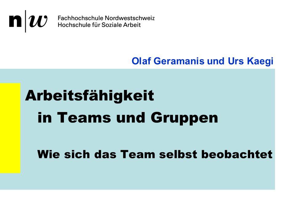 Herausforderungen II Sinn der Teamarbeit Weshalb benötigt der/die Einzelne das Team.