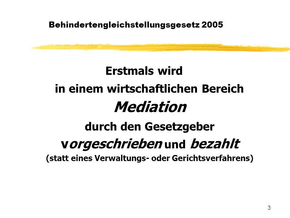 4 Behindertengleichstellungsgesetz 2005 Geltung zDas Gesetz tritt am 1.1.2006 in Kraft.