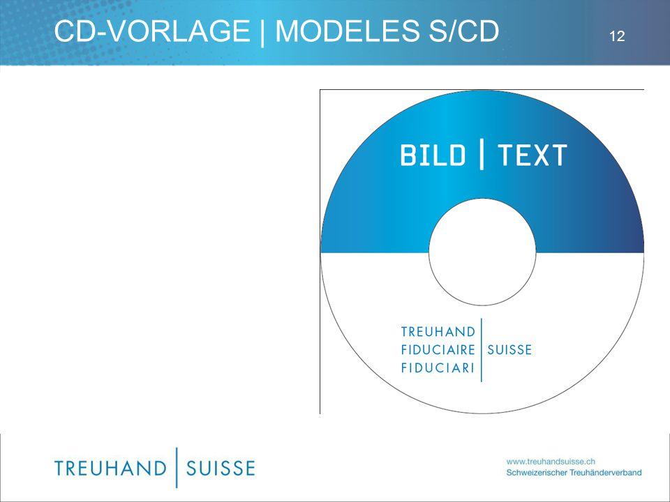 CD-VORLAGE | MODELES S/CD 12