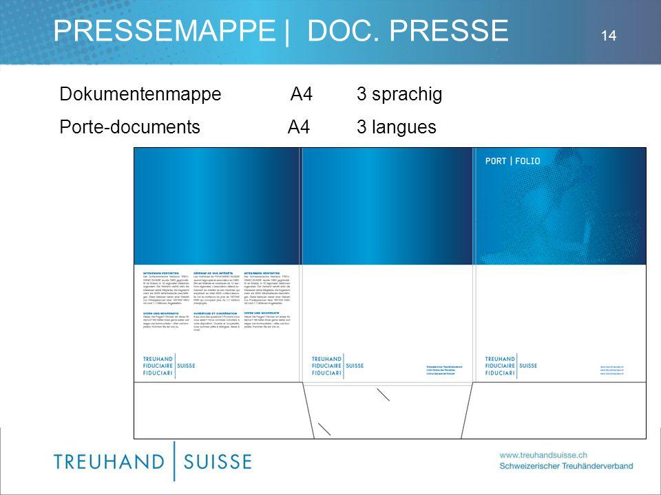 PRESSEMAPPE | DOC. PRESSE DokumentenmappeA43 sprachig Porte-documents A43 langues 14
