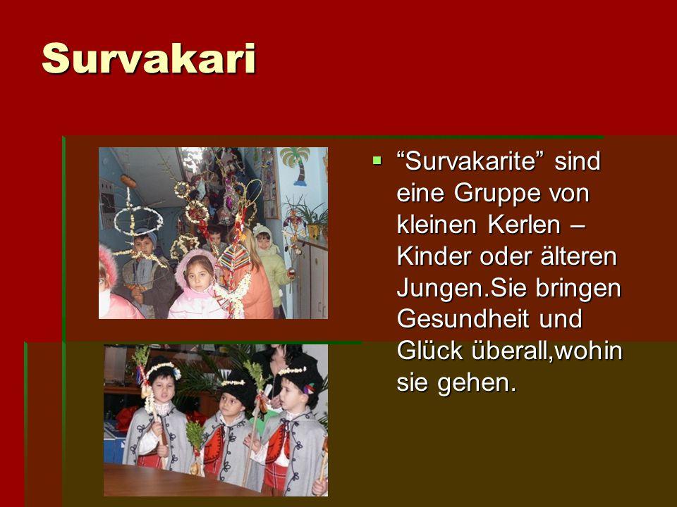 """Survakari """"""""""""""""Survakarite"""" sind eine Gruppe von kleinen Kerlen – Kinder oder älteren Jungen.Sie bringen Gesundheit und Glück überall,wohin sie geh"""