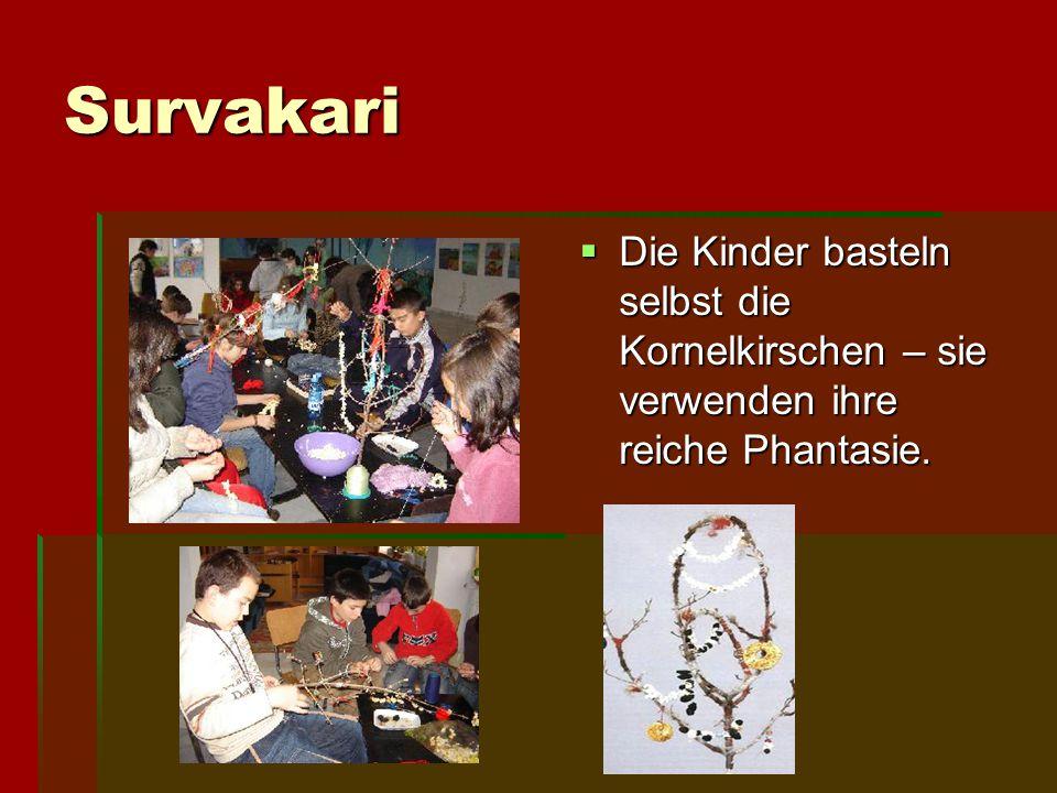 Survakari Survakarite wünschen den Familien Furchtbarkeit und schützen die Leute vor bösartigen Menschen und Unglück.