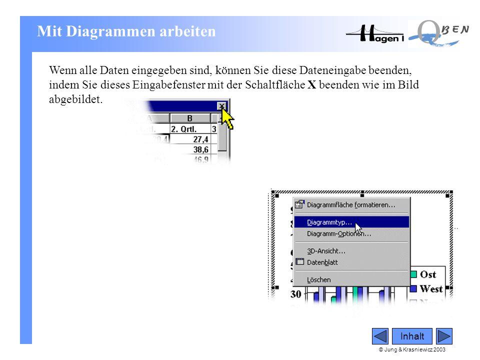 © Jung & Krasniewicz 2003 Inhalt Wenn alle Daten eingegeben sind, können Sie diese Dateneingabe beenden, indem Sie dieses Eingabefenster mit der Schal