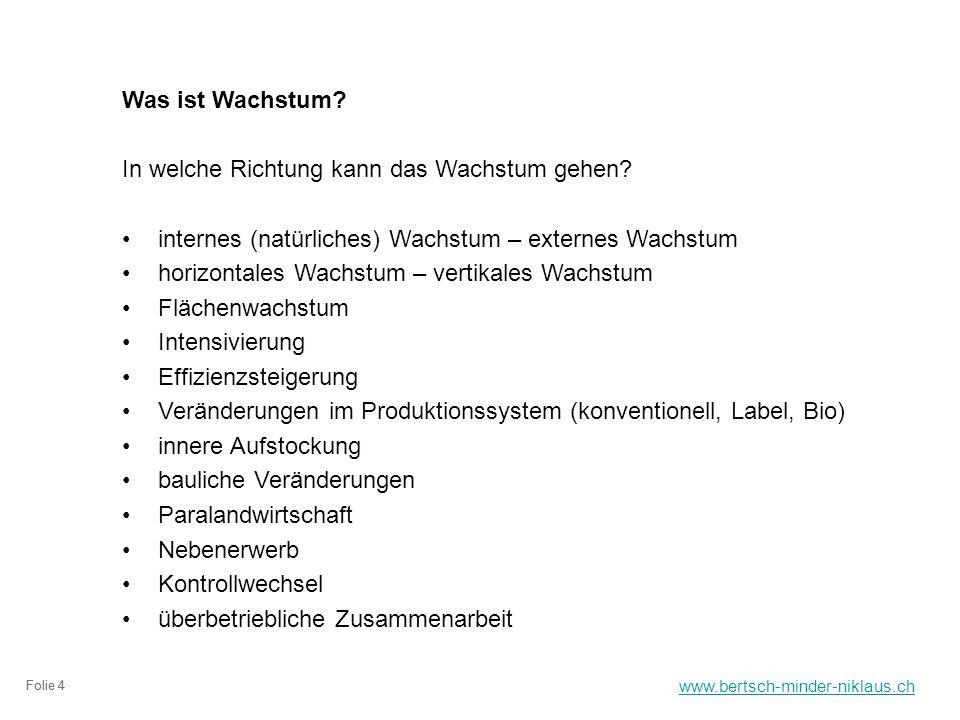 www.bertsch-minder-niklaus.ch Folie 4 Was ist Wachstum.