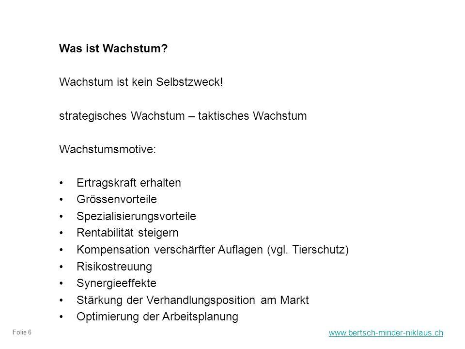www.bertsch-minder-niklaus.ch Folie 6 Was ist Wachstum.