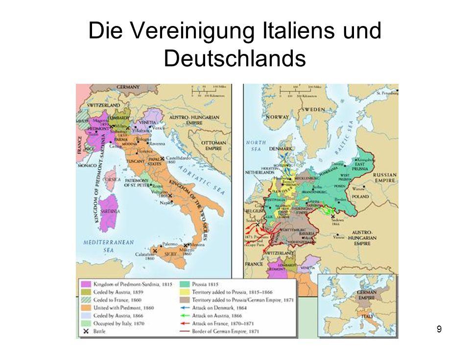 9 Die Vereinigung Italiens und Deutschlands