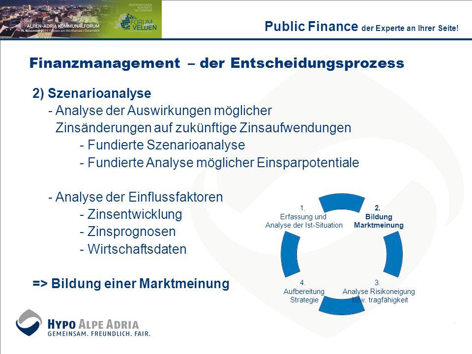 2) Szenarioanalyse - Analyse der Auswirkungen möglicher Zinsänderungen auf zukünftige Zinsaufwendungen - Fundierte Szenarioanalyse - Fundierte Analyse