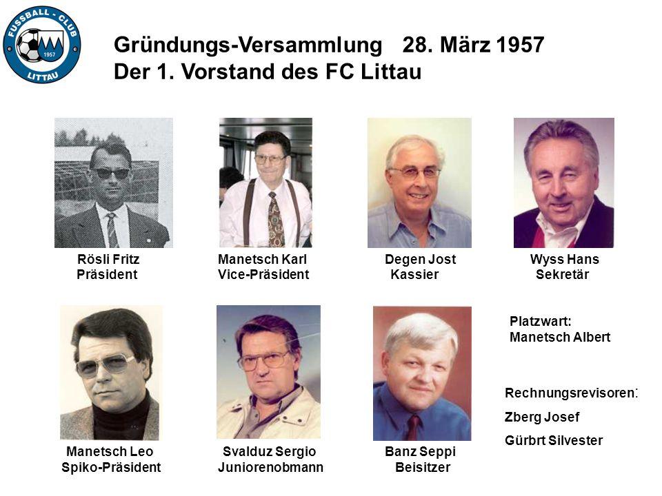 Manetsch Leo Spiko-Präsident Rechnungsrevisoren : Zberg Josef Gürbrt Silvester Manetsch Karl Vice-Präsident Rösli Fritz Präsident Degen Jost Kassier B