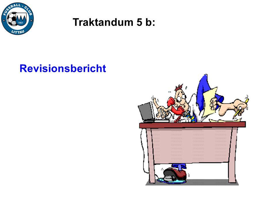 Traktandum 5 b: Revisionsbericht