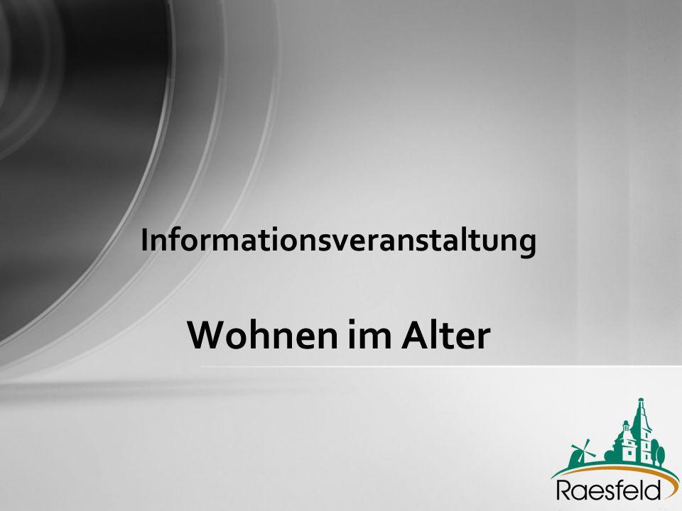 Informationsveranstaltung Wohnen im Alter
