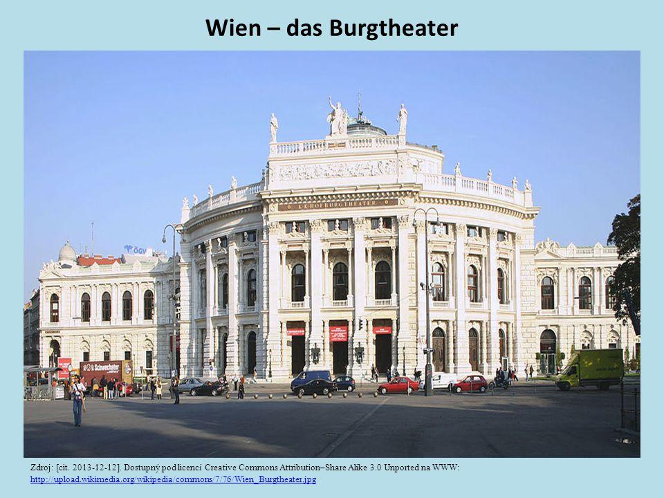 Wien – das Burgtheater Zdroj: [cit. 2013-12-12].