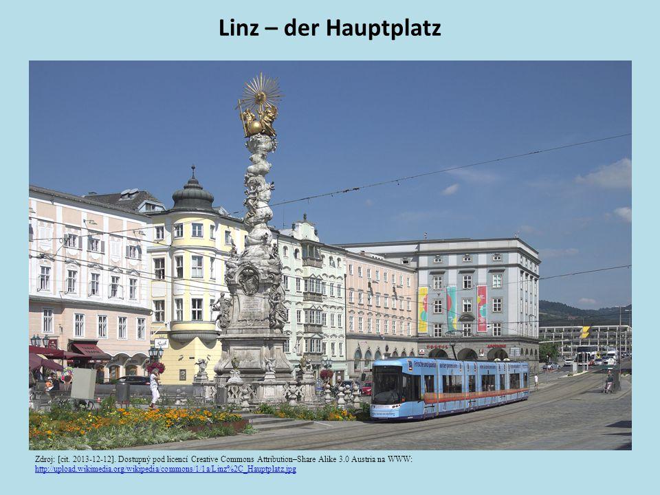 Linz – der Hauptplatz Zdroj: [cit. 2013-12-12].