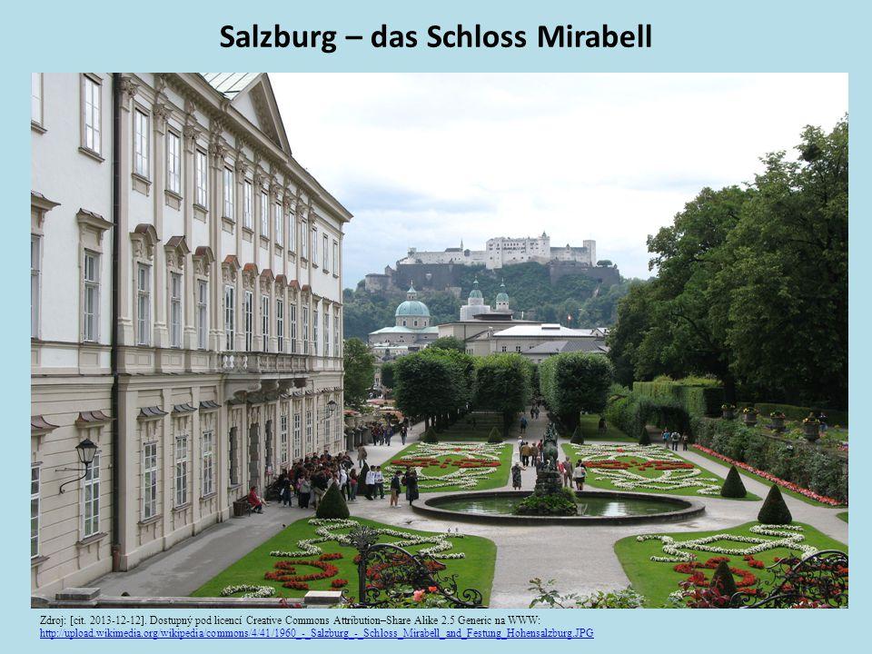 Salzburg – das Schloss Mirabell Zdroj: [cit. 2013-12-12].