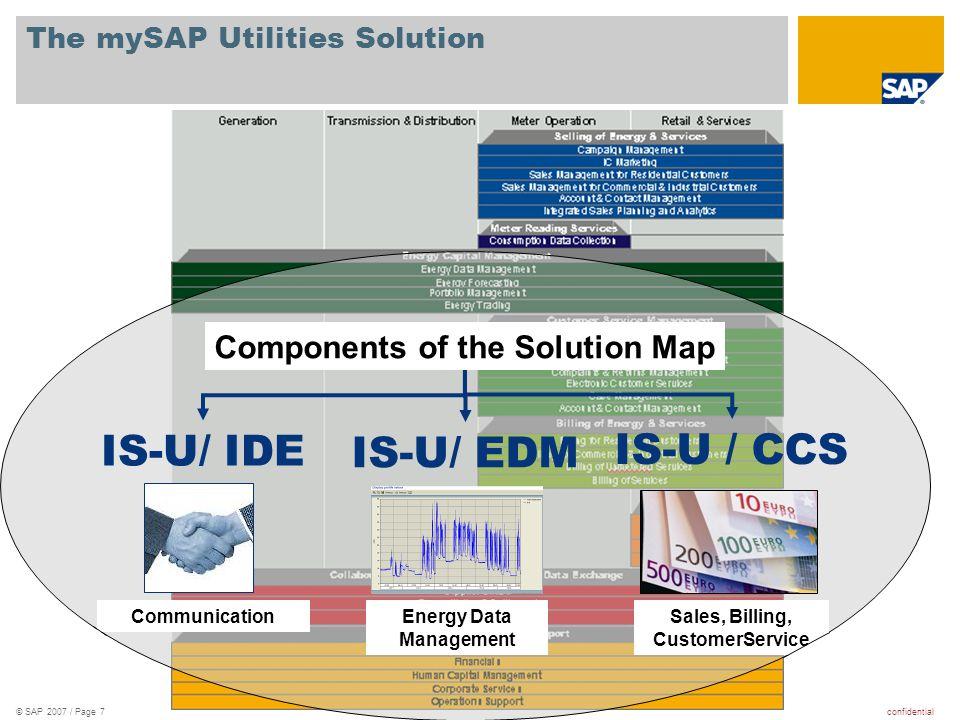 confidential© SAP 2007 / Page 38 1.Řízení spotřeby energie se SAP R/3 (ECC) 1.1.