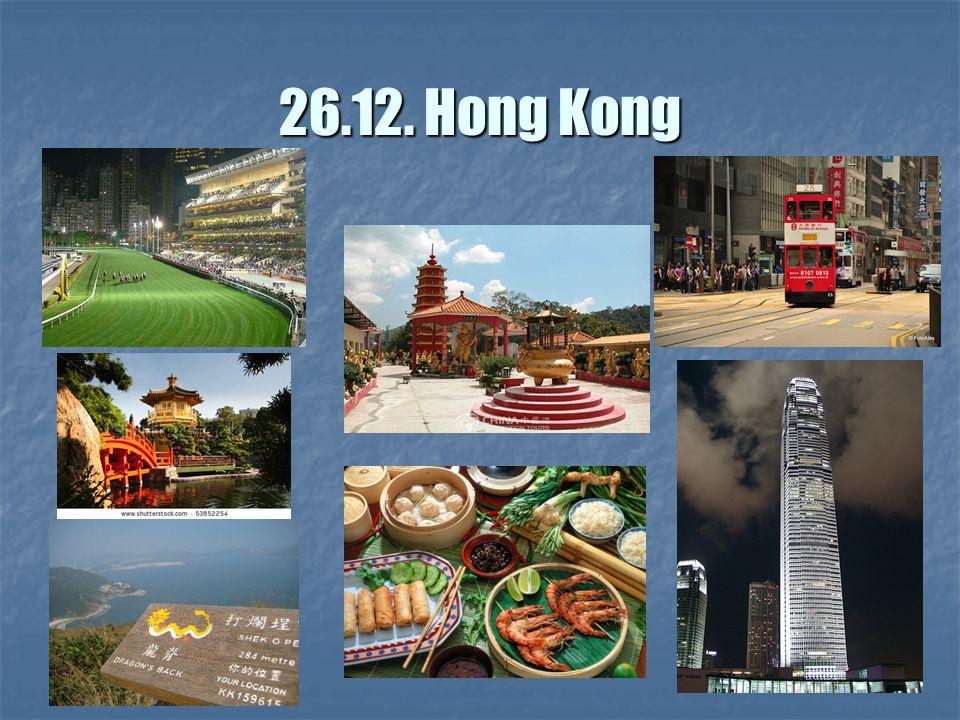 26.12. Hong Kong