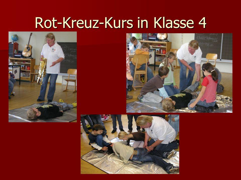 Rot-Kreuz-Kurs in Klasse 4