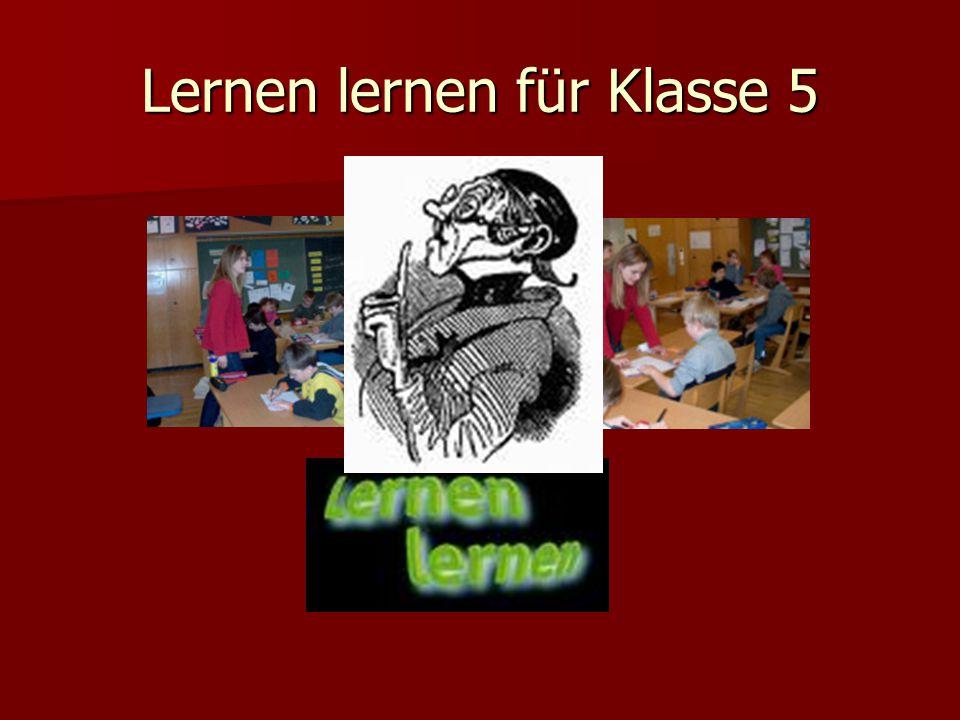 Lernen lernen für Klasse 5