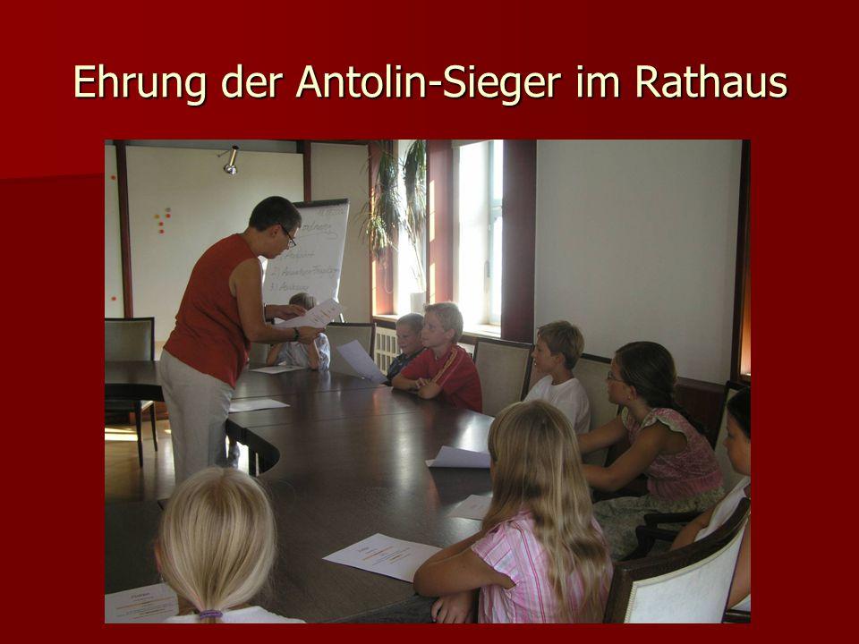 Ehrung der Antolin-Sieger im Rathaus