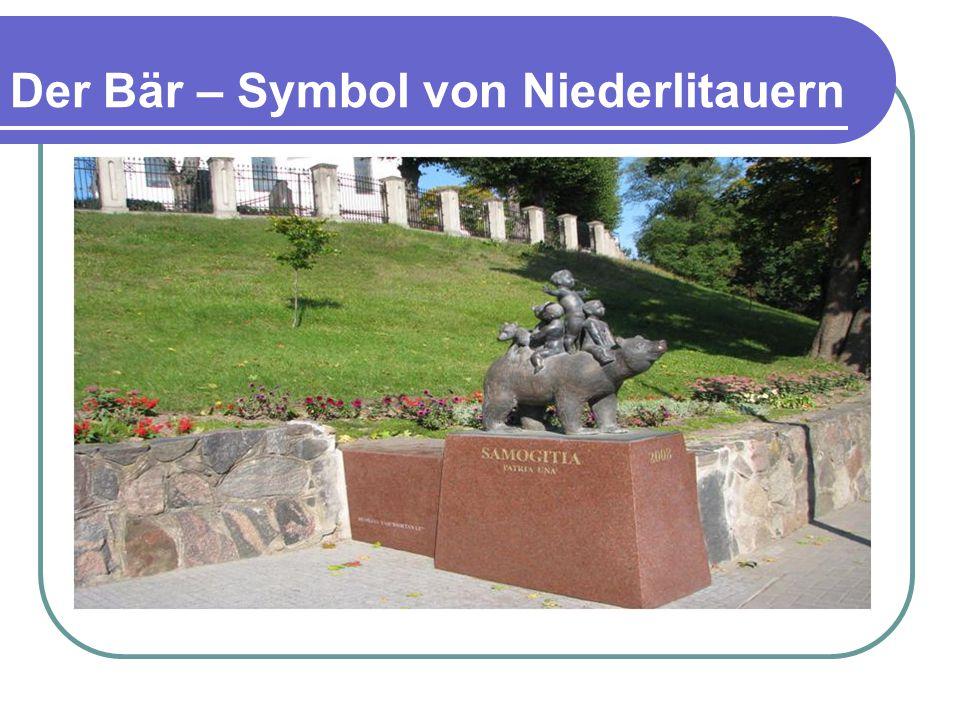 Der Bär – Symbol von Niederlitauern