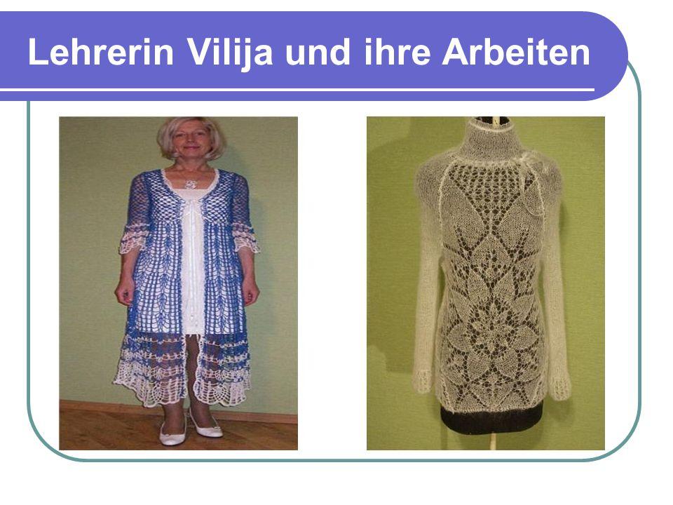 Lehrerin Vilija und ihre Arbeiten