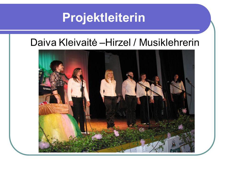 Projektleiterin Daiva Kleivaitė –Hirzel / Musiklehrerin