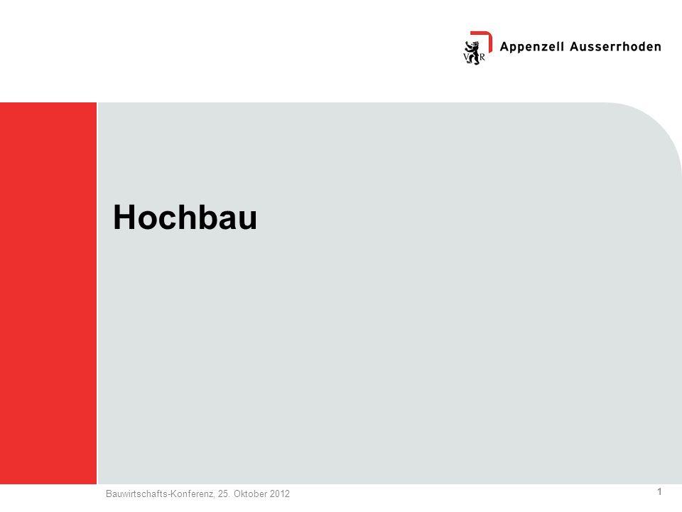 1 Bauwirtschafts-Konferenz, 25. Oktober 2012 Hochbau