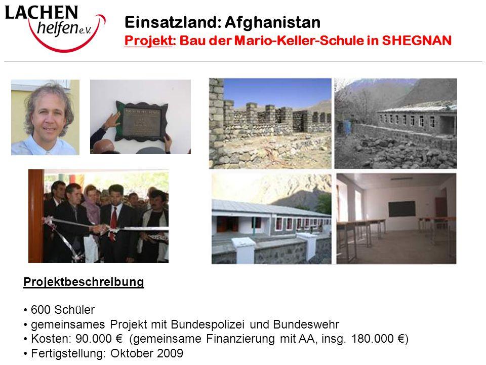 Projektbeschreibung 600 Schüler gemeinsames Projekt mit Bundespolizei und Bundeswehr Kosten: 90.000 € (gemeinsame Finanzierung mit AA, insg. 180.000 €