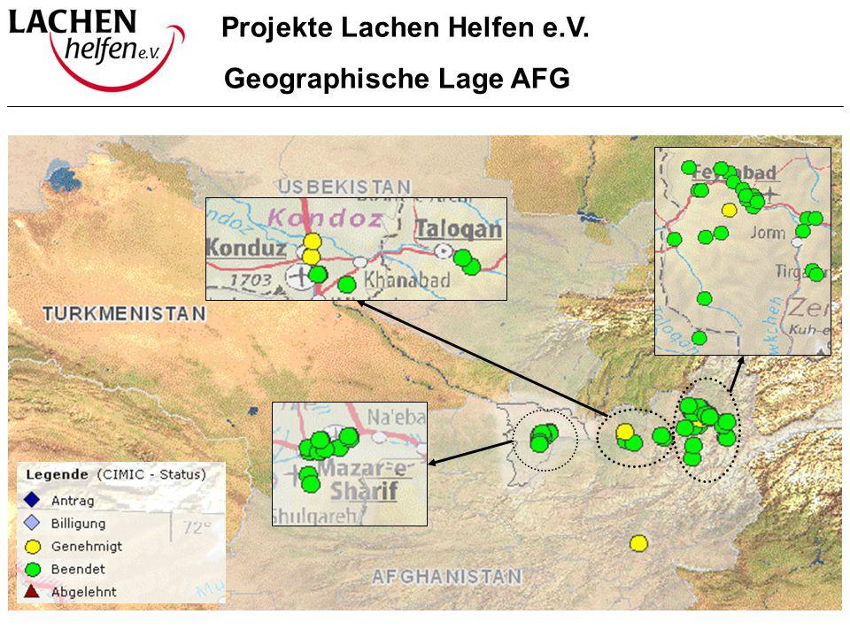 Projekte Lachen Helfen e.V. Geographische Lage AFG