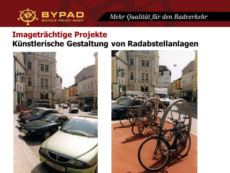 Imageträchtige Projekte Künstlerische Gestaltung von Radabstellanlagen